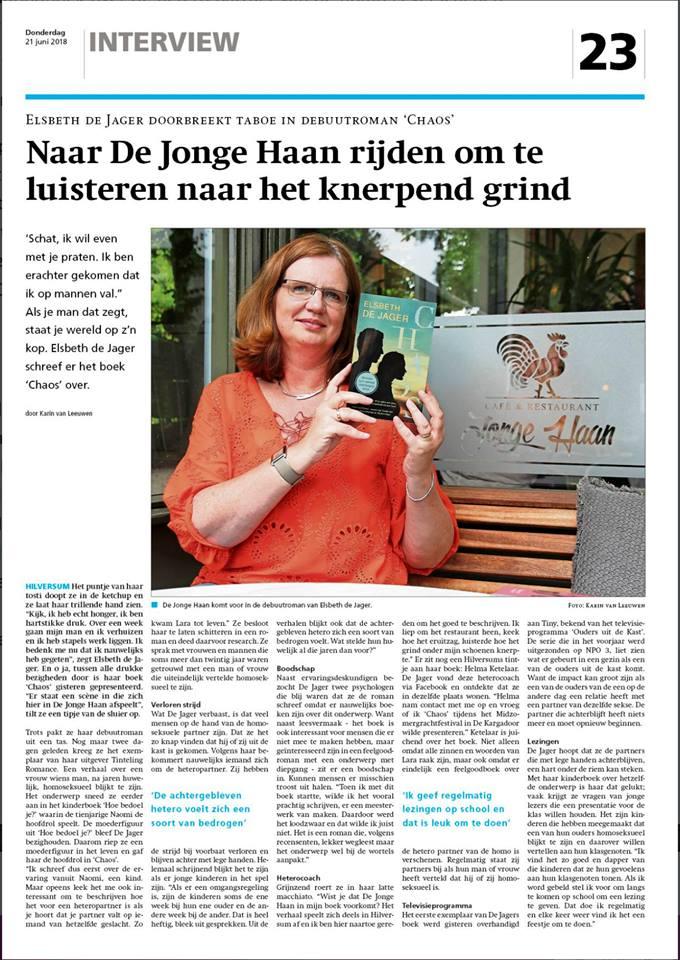 Krant Hilversum juni 2018